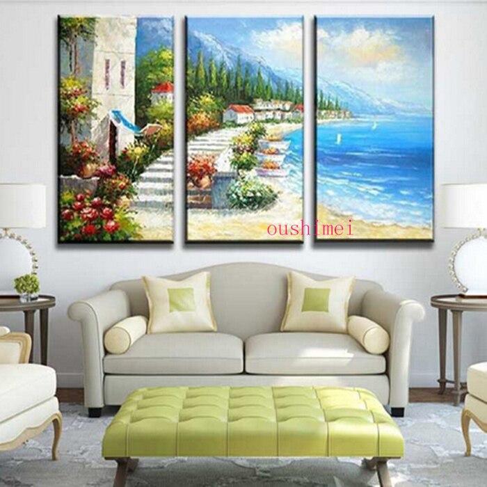 Nuevo pintado a mano imágenes pinturas sobre lienzo pintura al óleo ...