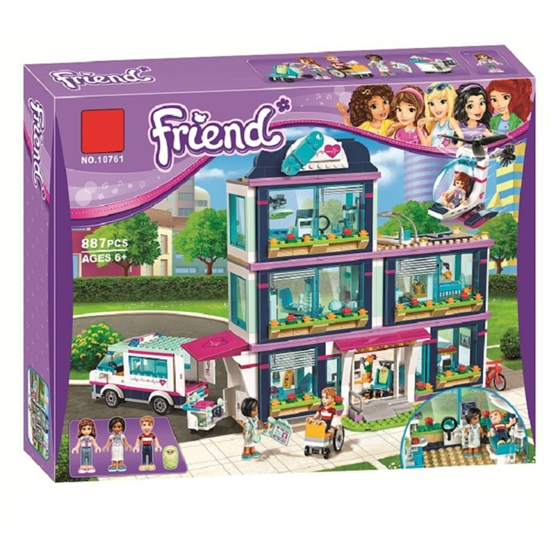 Friends Girl Series 932pcs Building Blocks toys Heartlake Hospital kids Bricks toy girl gifts Compatible Legopinlys 41318 01039 building bricks girls club 932pcs 01039 heartlake love hospital kids bricks toy for girls 41318