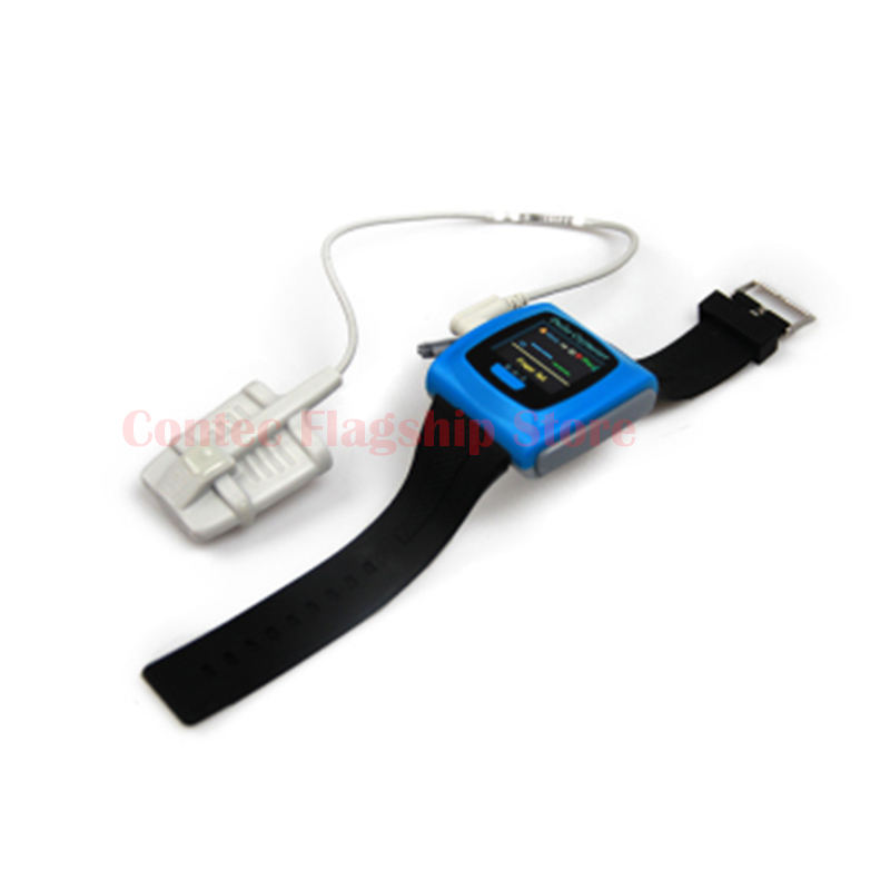 Contec CMS50F Color OLED Display Wrist Pulse Oximeter, SPO2, Pulse Rate, Blood Oxygen Monitor цена