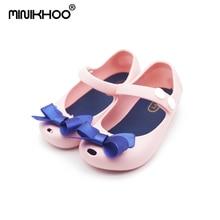 2017 کفش کوچک ژله پروانه کوچک ملیسا ژله ای پروانه ای کوچک و نرم پایین سر دختران صندل کودک کفش کودک 4 رنگ کوچک