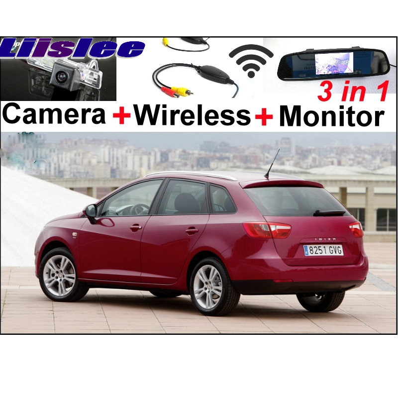 Liislee Special Car Camera + Wireless Signal + Mirror Monitor 3in1 Easy Parking System For SEAT IBIZA MK4 6J ST 5Doors 2009~2014 newest design special car with radio antenna signal shark fin adhesive for seat ibiza alhambra leon 2009 2010 2011 2012 2013