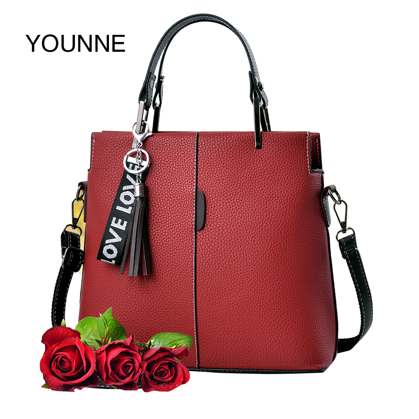 YOUNNE Women Bags Fashion Solid Women Pillow Handbag Soft PU Leather Women Top-Handle Bag Tote Shoulder Bag Large Capacity