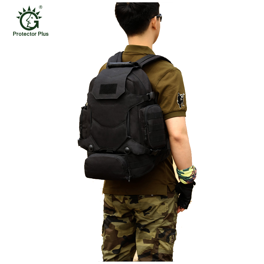 40L Outdoor Tactical Backpack Camping Bag Waterproof Mountaineering Hiking Backpacks Molle Sport Bag Climbing Rucksack