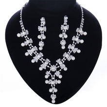 High Quality Fashion cheap crystal necklace for wedding Jewelry sets DS018