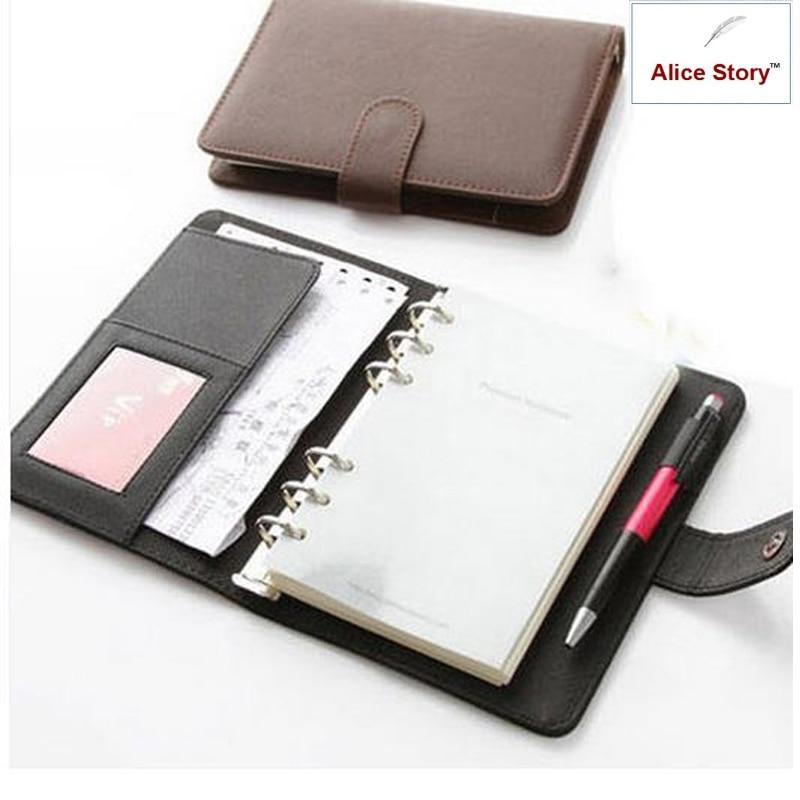 A5 a A6 Business Elegantní Pu kožený obal Spirála Notebook Planner Pořadatel Agenda práce Časopis plán Denní Memo dárek