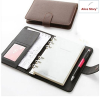 Business Elegant PU Leather Cover Spiral Notebook Planner Organizer Agenda Work Journal Schedule Daily Memo Gift