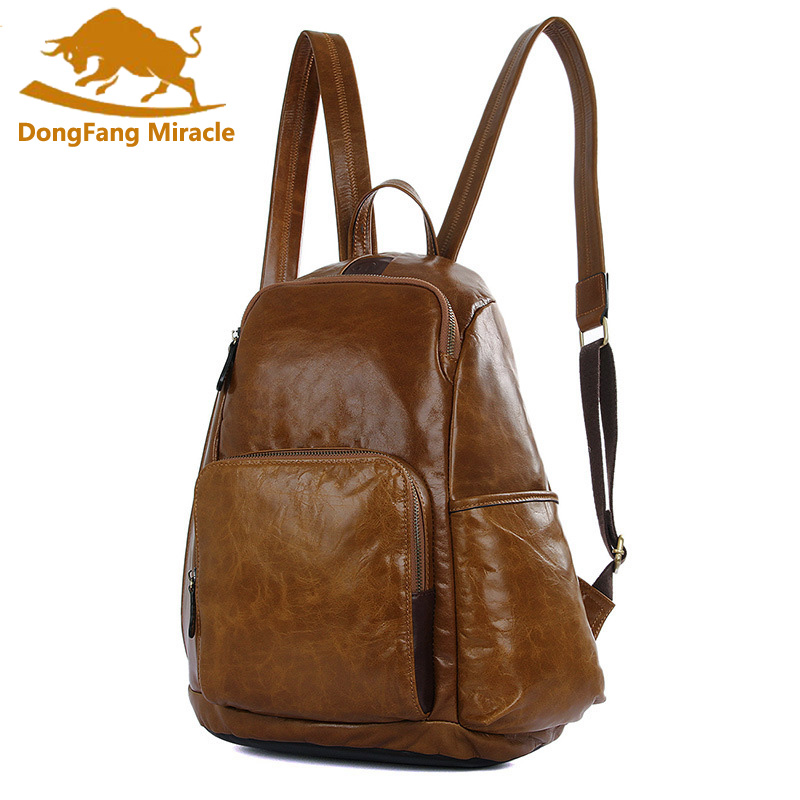 Multi-function Genuine Leather Shoulder Bag New Backpack Large-capacity Travel Student Bag Headset Hole Backpack new playeagle waterpoof pu leather golf boston bag golf clothing bag large capacity travel bag with shoes pocket oem logo