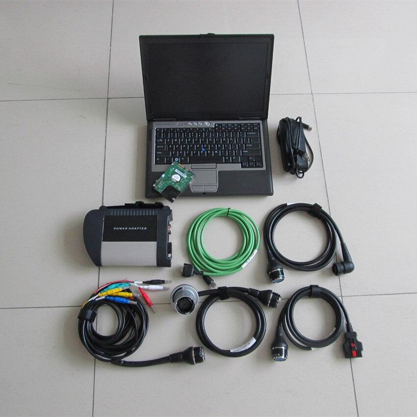 Mb star c4 d630 ordinateur portable 320 gb hdd 2019.07 plus récent logiciel ensemble complet prêt à l'emploi 12 v 24 v scanner de diagnostic prêt à l'emploi