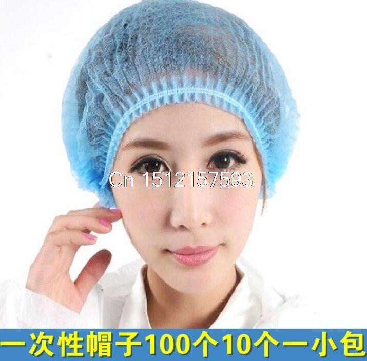 100 pcs jednorazowe włosy netto Cap włókniny Bouffant Stretch medyczne pyłu Cap