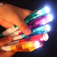 DHL 高速無料 1000 ピース/ロット創造文房具の工場直接照明ランプ光でプラスチックペン印刷することができ