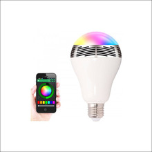 E27 5W led bulb bluetooth led lamp wireless music bulb speaker disco noverty led lighting music player bulbs AC220V