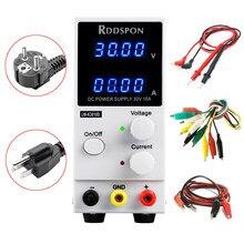 RDDSPON 3010D 4 fonte de alimentação DC ajustável-exposição do dígito carregamento 30 V 10A interruptor regulador de voltagem da fonte de alimentação de laboratório