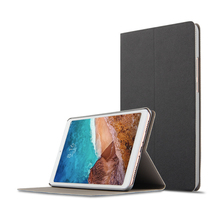 цена на Pure color Case for Xiaomi Mi Pad 4 Case Slim Retro Folding Stand PU Leather Smart Cover for Xiaomi MiPad 4 Case 8.0 Tablet