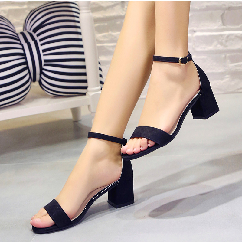 HTB1crQgulmWBuNkSndVq6AsApXaO MCCKLE Summer Women Shoes Gladiator Buckle Strap Cover Heel Fashion Chunky Ladies Sandals For Woman Ankle Strap Footwear
