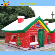 цена на Free Shipping Inflatable Santa House for Christmas Holiday, Inflatable Christmas Decoration(free Air Blower)