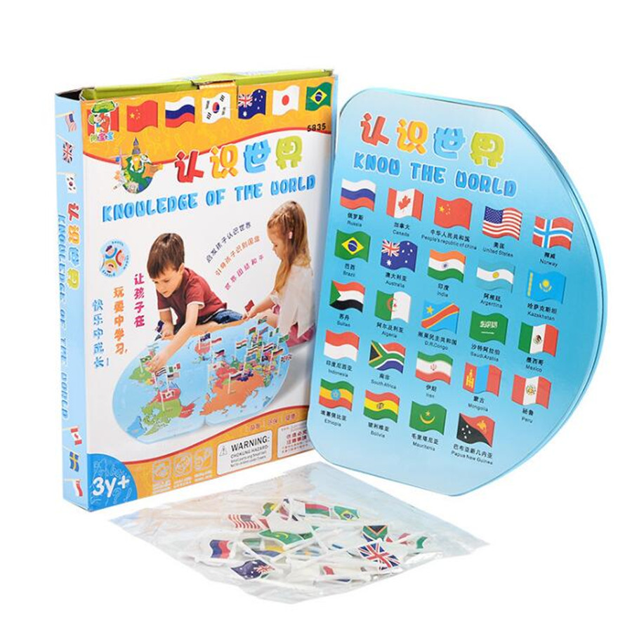 Wooden puzzle understanding world map child science and education wooden puzzle understanding world map child science and education learn toy insert the flag recognize the country in puzzles from toys hobbies on gumiabroncs Images