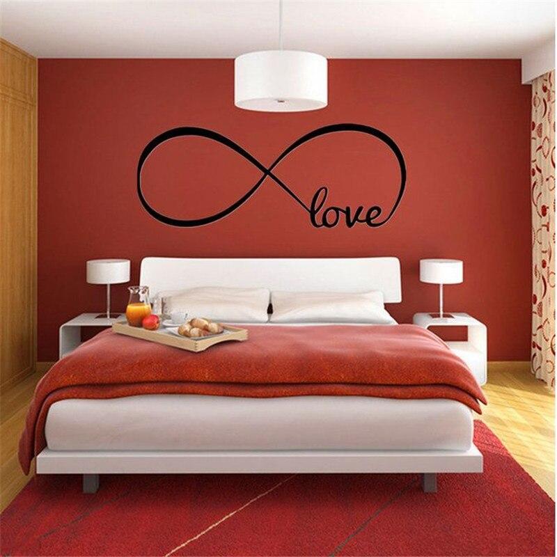 Горячая Распродажа, черные съемные водостойкие наклейки на стену с защитой от влаги и бесконечной большой любовью для украшения дома, гости...