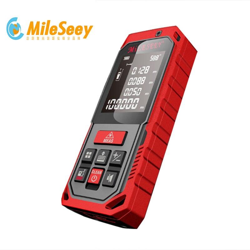Mileseey medida de distancia de láser S7/S2 164ft 50 m Mini Digital de mano láser metro de distancia del telémetro medidor de cinta y accesorios osciloscopios