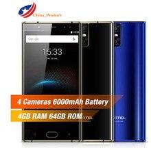 "Oukitel K3 4 г мобильный телефон 4 камеры 16.0MP + 2.0MP MTK6750T Octa core 4 ГБ + 64 ГБ 5.5 ""Android 7.0 OTG Touch ID гироскоп смартфон"
