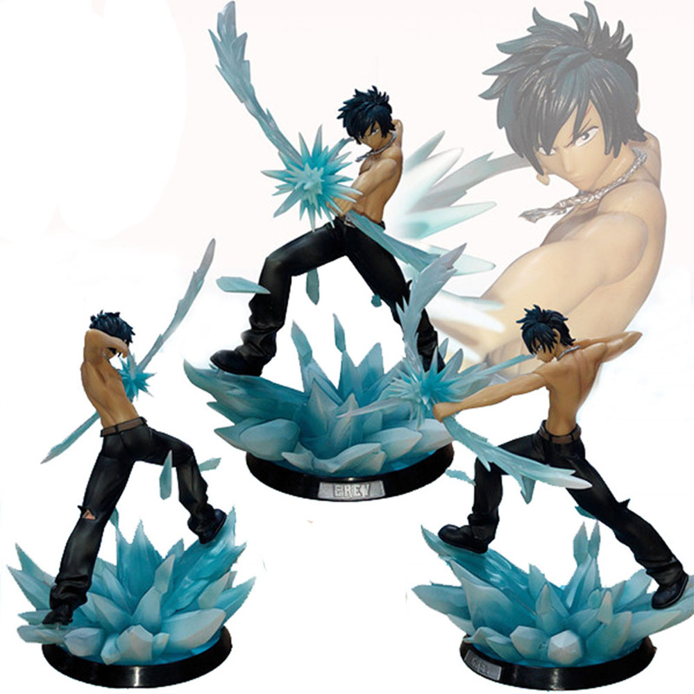 FAIRY TAIL Action Figure Gray Battle Style 290mm Model Toys Anime birthday present Japnese Anime Figures Collectible Model Toys 6pcs set anime cartoon character fairy tail natsu gray lucy erza figure action doll toys great gift