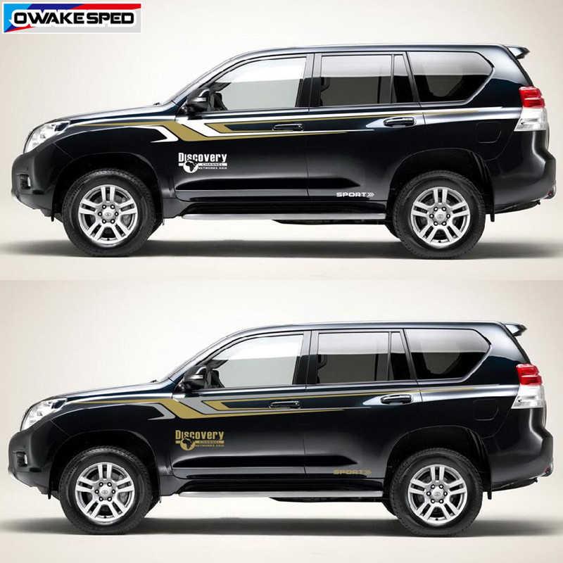 Car Stickers World Map Discovery Sport Vinyl Decal For Toyota Prado Land  Cruiser Waistlines Stripes Auto Body Door Side Stickers