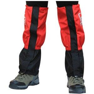 Image 2 - Outdoor Sports getry wodoodporne legginsy Camping, polowanie, piesze wycieczki rękaw na nogę wspinaczka ochraniacze śnieżne getry noga
