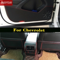Car pads front door Seat Anti kick mat For Holden Chevrolet Cruze Malibu Sail Spark Captiva Equinox Trax/Tracker AVEO Lova RV
