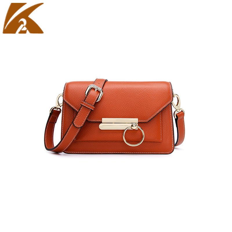KVKY Brand Real Cow Leather Small Crossbody Bags for Women Famous Designers Genuine Leather Party Shoulder Bag Messenger Bags
