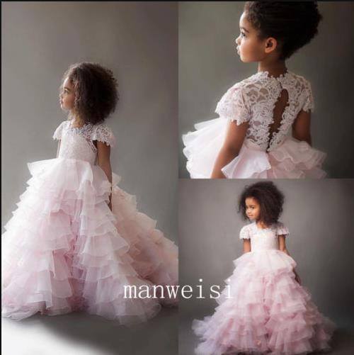 купить Flower Girl Dresses Tulle Ruffle Lace Princess Party Pageant Formal Gowns 2017 дешево
