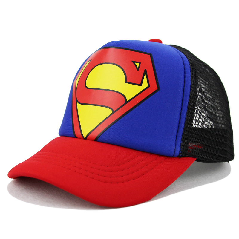 Children's Hats Superman Baseball Cap Pokemon Baby Hip Hop Hats Fashion Boy Snapback Boys Hip Hop Kids Hat Gorras 3-10 Years feitong summer baseball cap for men women embroidered mesh hats gorras hombre hats casual hip hop caps dad casquette trucker hat