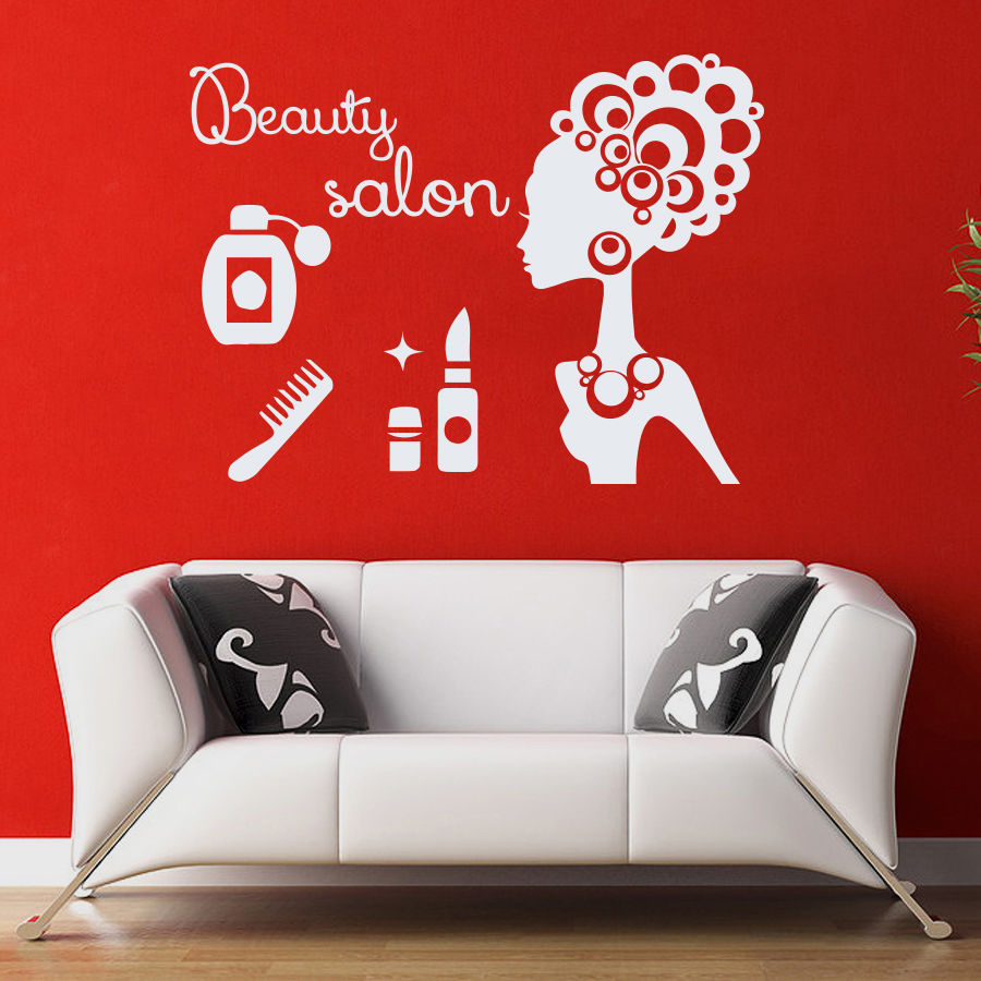 Buy beauty salon vinyl wall decal sexy for Stickers salon