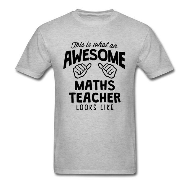 2935871d5 New Arrival Awesome Math Teacher T-Shirt Funny Design Tops Graphic Tees Men  Cotton Clothing