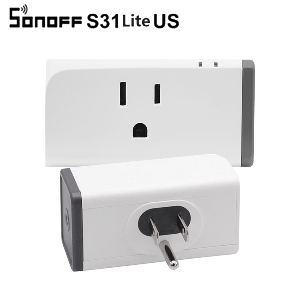 Sonoff S31 Lite US 16A Mini Wifi Smart Socket Wireless Smart Switch Plug App Works with  ...