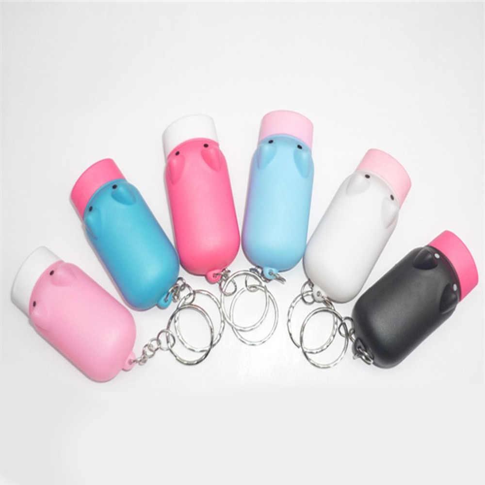 Hot Mini Portátil Tocha Porco Chaveiro LED Piscando Luz Portátil Lanterna Com LEDs 2 Presente Do Negócio (Cor Aleatória)