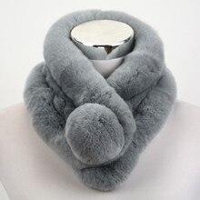 2016 Top Quality Lady Real Rex Rabbit fur scarf Women Winter Neck Warm shawl  Retail / Wholesale S1518WS