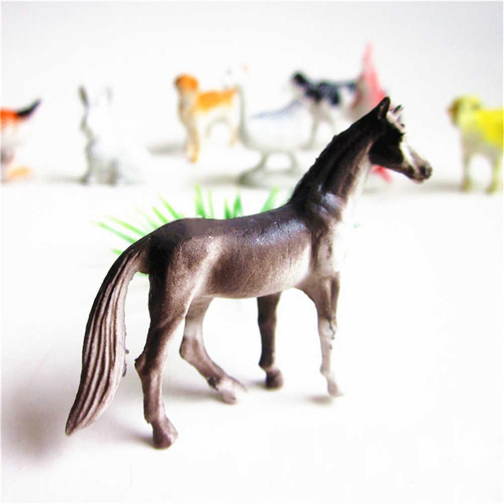 8 cái Trẻ Em Trang Trại động vật mô hình con số bức tượng nhỏ set đồ chơi nhựa nhỏ Mô Phỏng ngựa con mèo con chó bò lợn cừu Gà vịt Món Quà