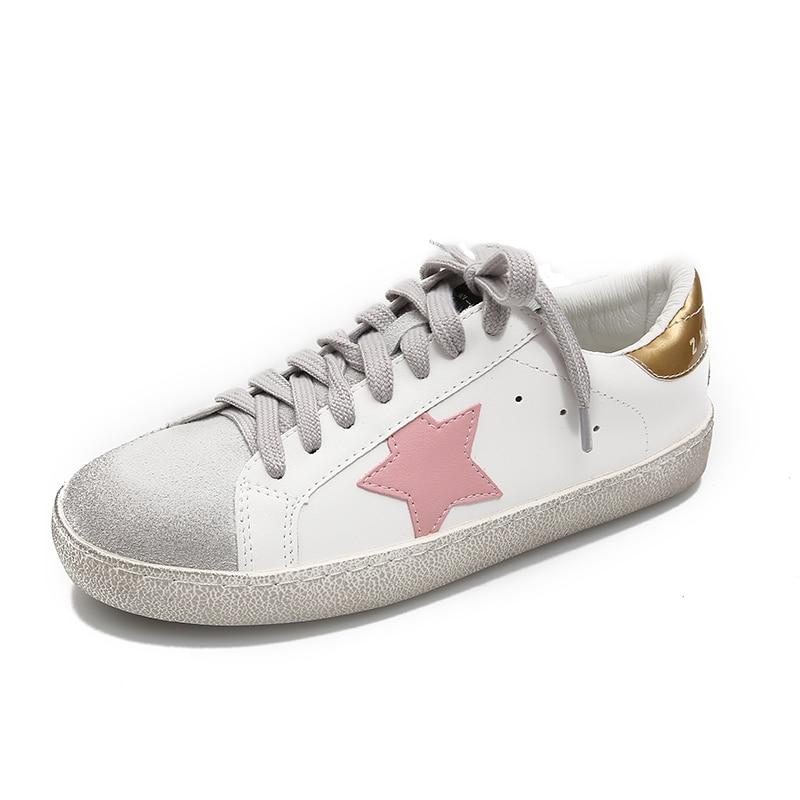 Plat silver Sale Femme Vieux Casual Étoiles Faire pink Mocassins Paillettes Cuir D'or Chaussures color En Sneakers Formateurs Pu Gold Matching Femmes 8w60qT6