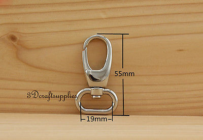 Lobster Clasps Clips Claw purse hooks Swivel snap hook nickel 19 mm 8pcs AT76