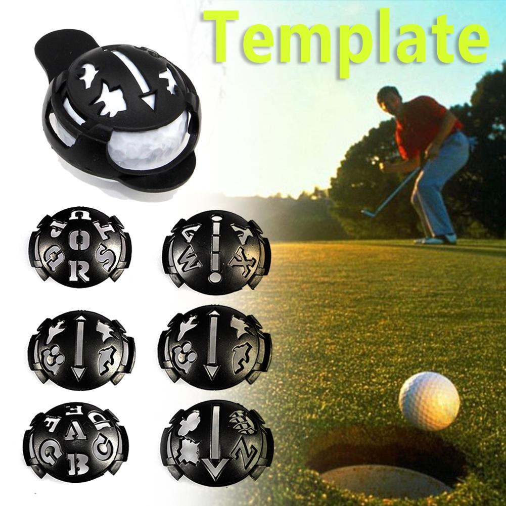 MARK GOLF BALL STENCIL MARKER TEMPLATE DRAWING LINE KIT PEN (BLACK)