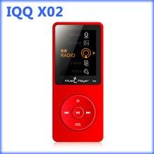 IQQ X02 deporte reproductor de mp3 con altavoz de alta fidelidad reproductor de música mp3 de radio ayuda fm ranura para tarjeta micro DEL TF 64/128 GB mp 3 de Grabación de Radio FM