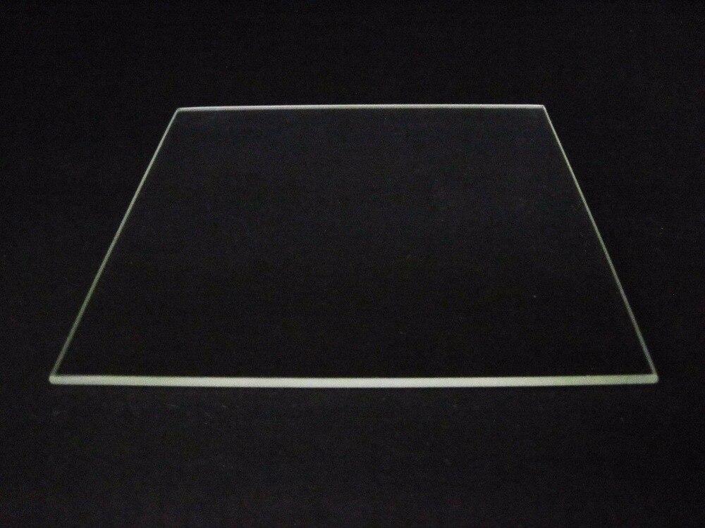 Plaque de Verre Borosilicate Lit Bord Poli 310mm x 370mm pour Tevo Tornado 3D lit chauffant Pour Imprimante