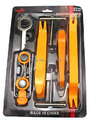Factory price 12pcs Car Automotive upholstery disassembly tools  for car  audio /gps( Installation Removal  Refit Tool Kit)