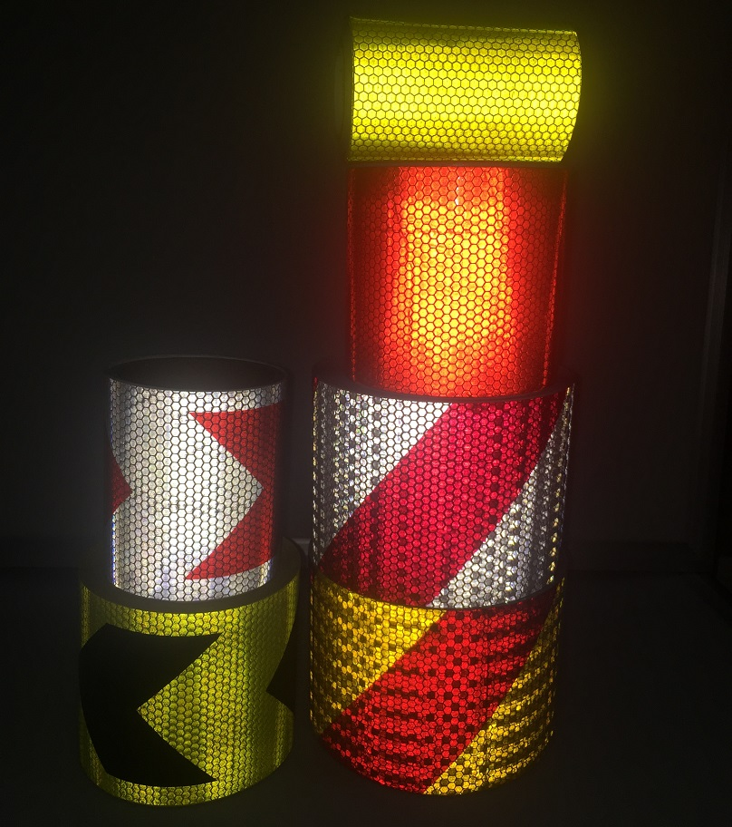 10cm*1M High Visibility Self-adhesive PVC Reflective Safety Tape Road Traffic Construction Site Reflective Sign Sticker