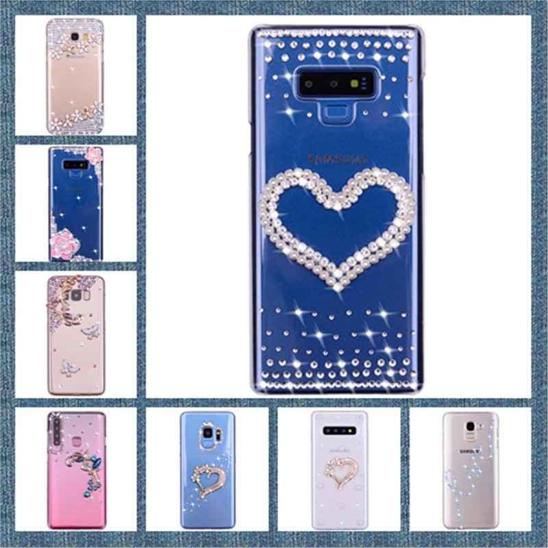Bling Case For Samsung Galaxy A50 A30 Note 9 Case Glitter Bling Covers For S7 S8 S9 S10 Plus A3 A5 A7 J5 J7 2017 2018 Cute Capas image