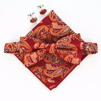 Handkerchief-Set-Bow-tie-Cufflinks-Pocket-Squares-3