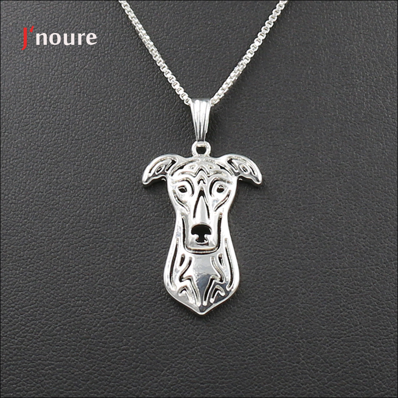 Retail Jnoure Fashion Jewelry Of Greyhound jewelry Pendant Necklace Animal Dog Necklace Gifts for Men / Women 3 colors A192