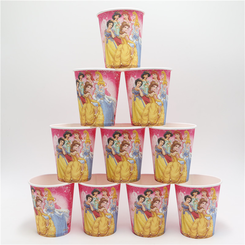 US $4 25 |10pcs/lot princess theme happy birthday party suppliers  disposable paper cups tableware cup drinks children's day kids girl 0348 on