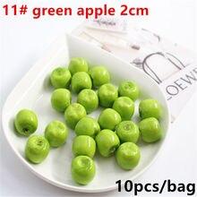 10 шт., мини-имитация, супер маленькие яблоки из пенопласта, искусственные фрукты, модель дома, вечерние, для кухни, свадебные украшения
