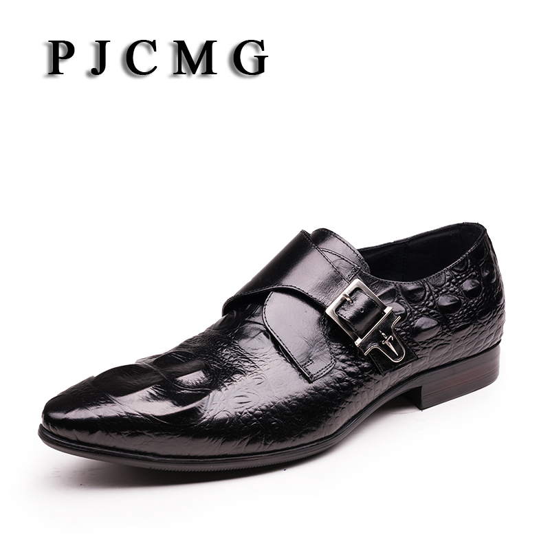 PJCMG Hot Sale New Spring/Autumn Men Oxford Business Dress Party Wedding Pointed Toe Slip-On Office & Career Men's Sapatos Shoes tba hot sale luxury brand men s office career business breathable casual winter and autumn male lace up pointed toe flats shoes