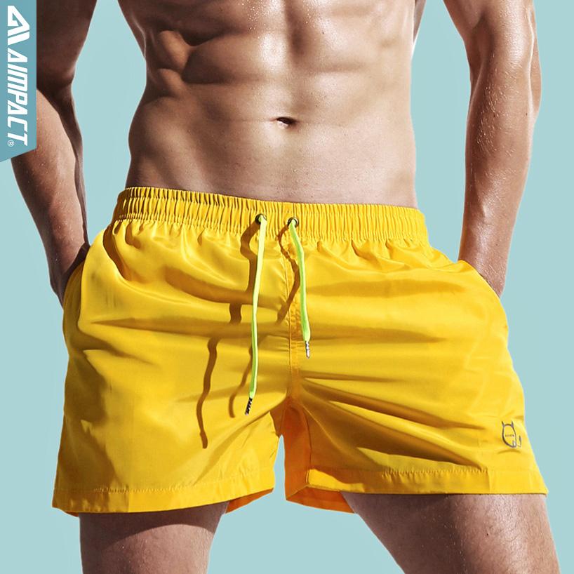 Aimpact Quick Dry Men's Board Shorts Fashion Sea S...